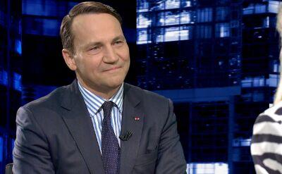 """Radosław Sikorski w """"Kropce nad i"""". Cała rozmowa"""