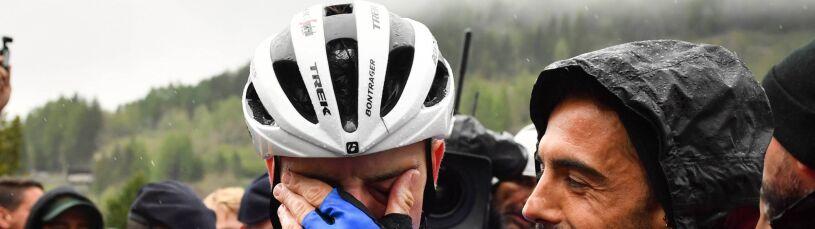 Bohater Giro walczył z przeraźliwym zimnem. Uratowała go gazeta przekazana przez kibica