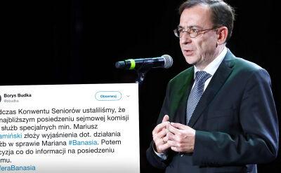 Budka: minister Mariusz Kamiński złoży wyjaśnienia w sprawie Banasia