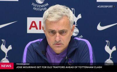 Mourinho przed starciem z Manchesterem United: nie jestem draniem