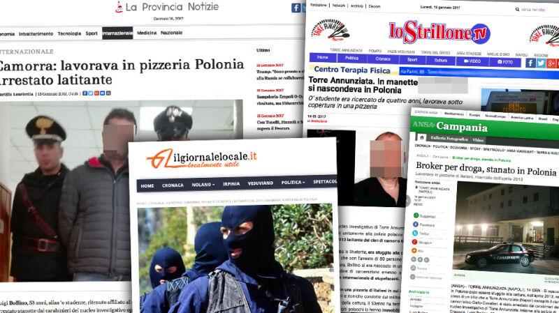 52-letni Włoch Luigi B. był poszukiwany przez karabinierów z Neapolu