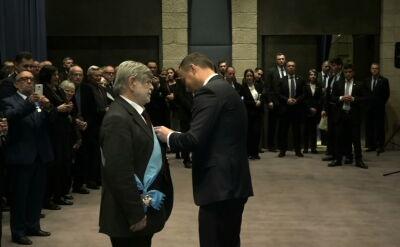 """Szewach Weiss odznaczony Orderem Orła Białego. """"Syn narodu żydowskiego i polskiej ziemi"""""""