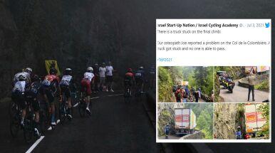 Organizatorzy Tour de France mieli ból głowy. Wszystko przez ciężarówkę