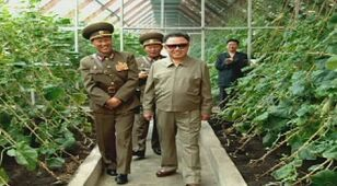 Pieśń na cześć Kima. Naród już się uczy