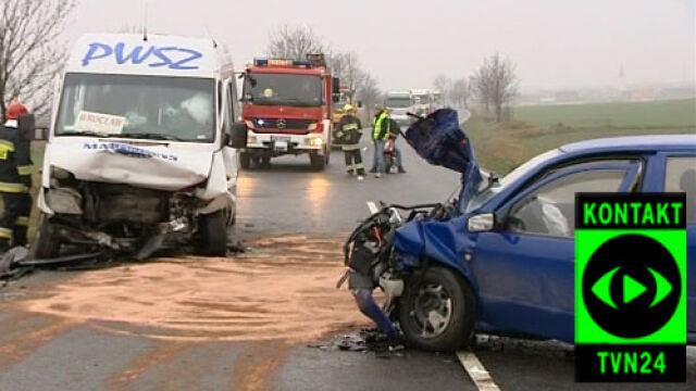 Wypadek busa - 14 rannych