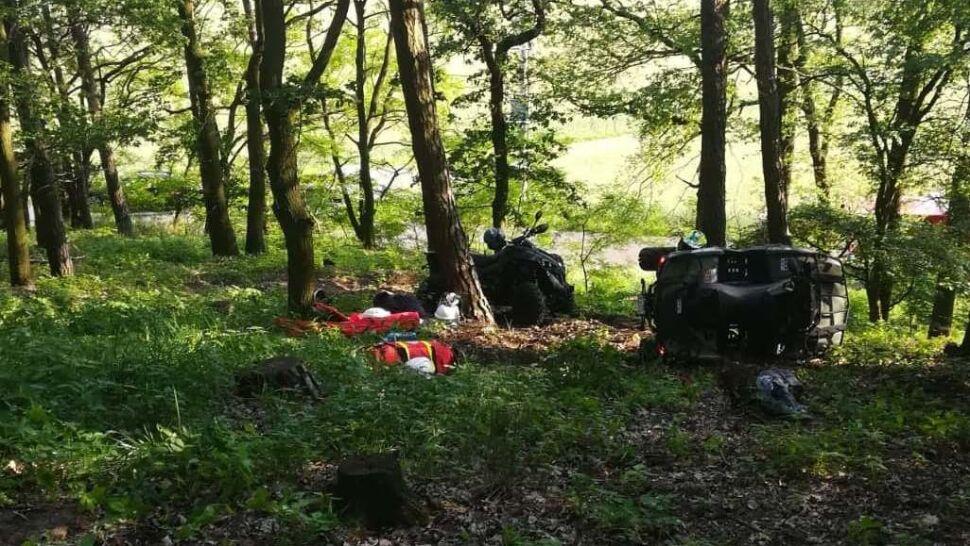 12-latka w lesie przygniótł quad. Chłopak sam prowadził pojazd