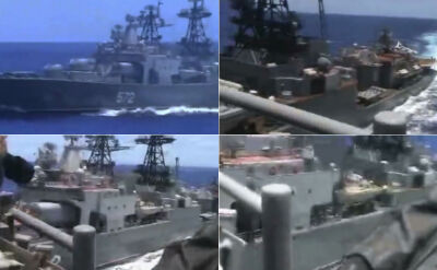 Rosyjski niszczyciel omal nie zderzył się z amerykanskim krążownikiem