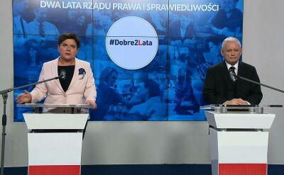 Szydło: naszym założeniem było m.in. przywrócenie godności polskim rodzinom