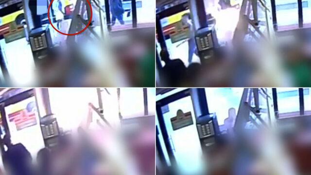 Wybuch bomby we Wrocławiu. Film z kamery monitoringu