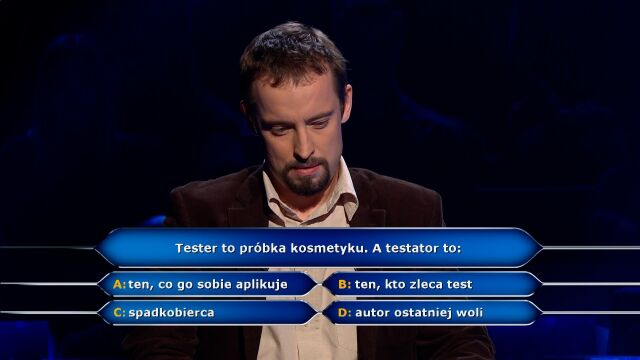"""Who is the testator? Question from """"millionaire ="""" """"for ="""" """"thousands ="""" """"z ="""""""