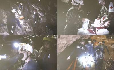 Akcja w jaskini. Pokazali film z ratowania dzieci