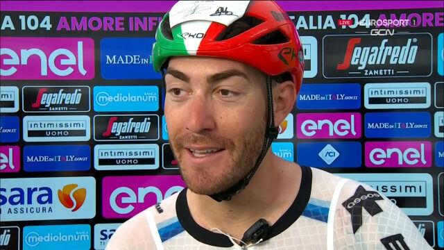 Nizzolo po wygraniu 13. etapu Giro d'Italia