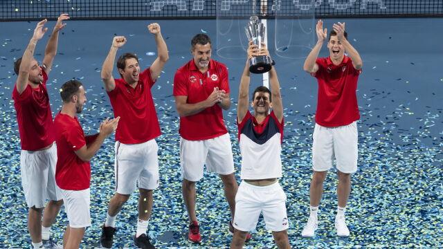 Djoković górą w pojedynku gigantów. Serbia pierwszym zwycięzcą ATP Cup