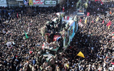 Na pogrzebie Sulejmaniego w Kermanie doszło do ataku paniki
