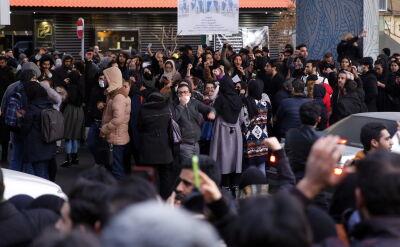 Demonstracja antyrządowa w Teheranie