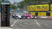Kolizja Rossiego i Rahala na 37. okrążeniu Grand Prix St. Petersburga