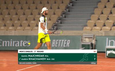 Chaczanow wygrał 1. seta w starciu z Majchrzakiem w 1. rundzie Roland Garros
