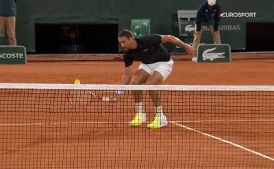 Świetne zagranie Cilicia w starciu z Thiemem w 1. rundzie Roland Garros