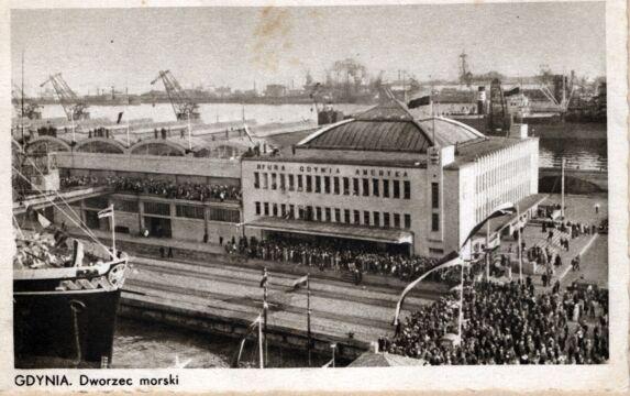 Elewacja frontowa Dworca Morskiego, 1934 r.