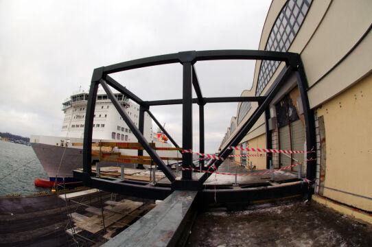 Budowa trapu wychodzącego z Magazynu Tranzytowego