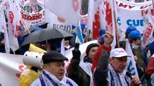 Manifestacja na ulicach Poznania