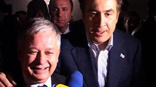 Saakaszwili; Macie bardzo dzielnego prezydenta (tvn24.pl)