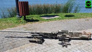 Sprzątali jezioro, znaleźli działko lotnicze. Trzeba było zamknąć molo