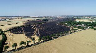 Płonęło 200 hektarów zboża. W akcji samoloty gaśnicze