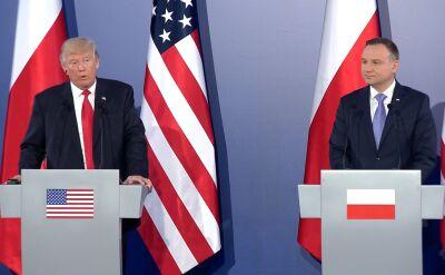 Trump i Duda - spotkanie w cztery oczy