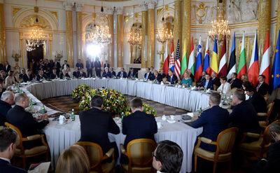 President Donald Trump at the summit of the Three Seas