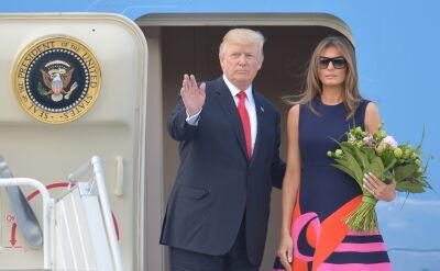Donald Trump odlatuje z Warszawy