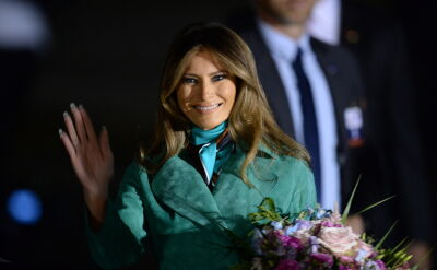 All the smiles of Melania Trump