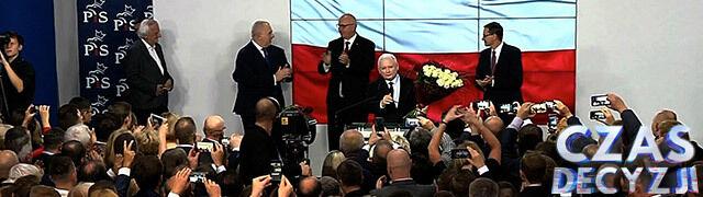 Sondażowe wyniki wyborów late poll: PiS na prowadzeniu, PO-KO zyskuje jeden mandat