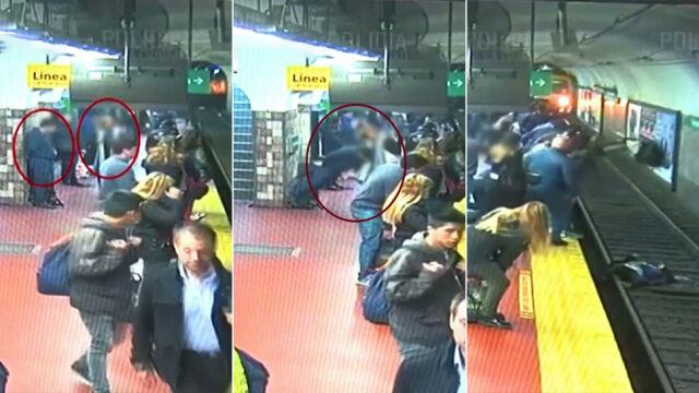 Mdlejąc, wepchnął kobietę na tory przed nadjeżdżający pociąg