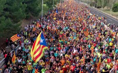 Ponad pół miliona protestujących w Katalonii. Wieczorem doszło do starć z policją