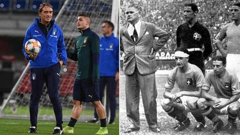 """Mancini wyrównał 80-letni rekord. """"Wolałbym dwa razy zdobyć Puchar Świata"""""""