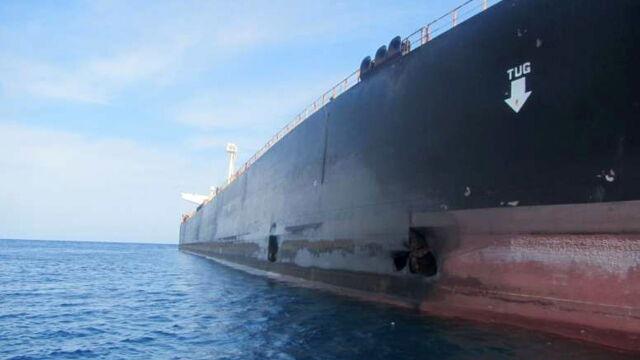 Uszkodzony w ataku rakietowym tankowiec na wodach Iranu