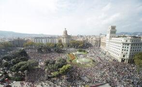 Protesty w Barcelonie po wyroku Sądu Najwyższego