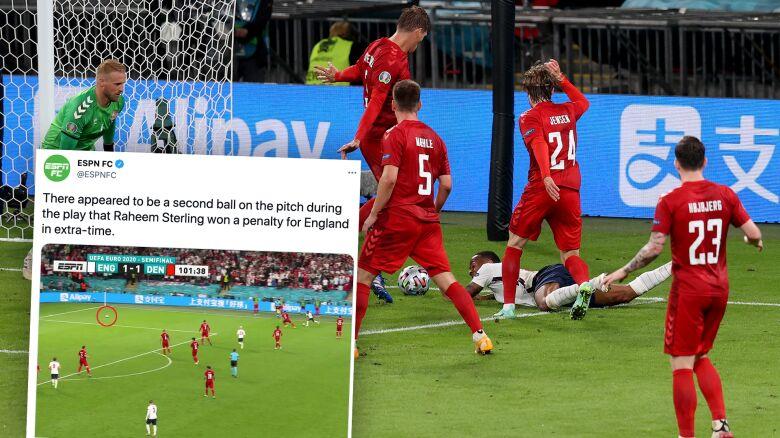 Dwie piłki na murawie tuż przed karnym dla Anglii. Trener zdumiony decyzjami sędziów