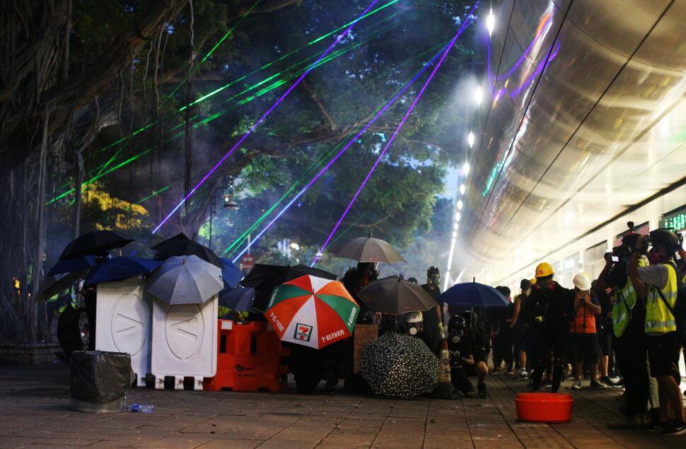 Protesty na ulicach Hongkongu
