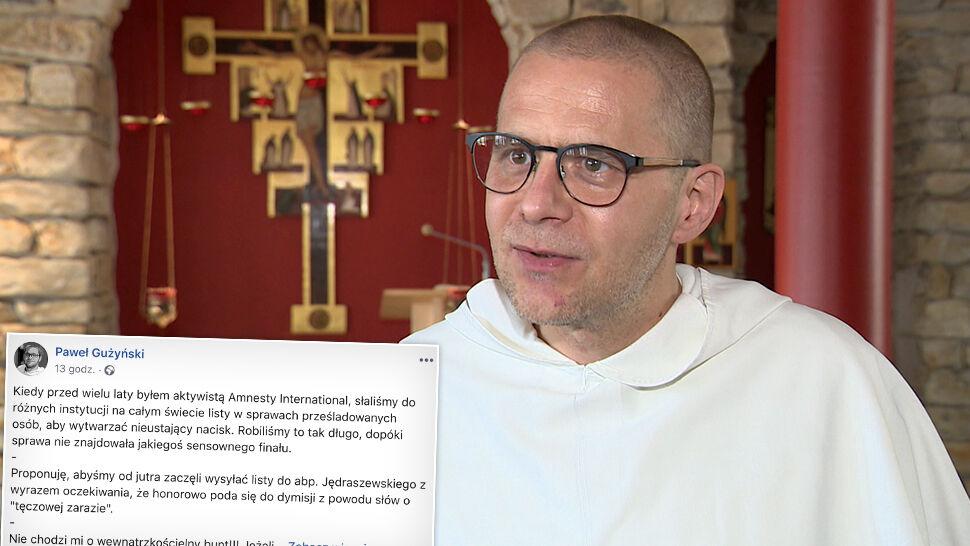 """""""Katolicki maraton pisania listów"""". Ojciec Gużyński apeluje o dymisję arcybiskupa Jędraszewskiego"""