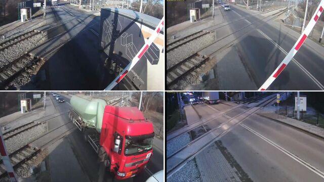 Ignorują światła ostrzegawcze i wjeżdżają na przejazdy kolejowe. 22 połamane szlabany