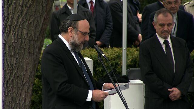 Modlitwę odmówił naczelny rabin Polski, Michael Schudrich