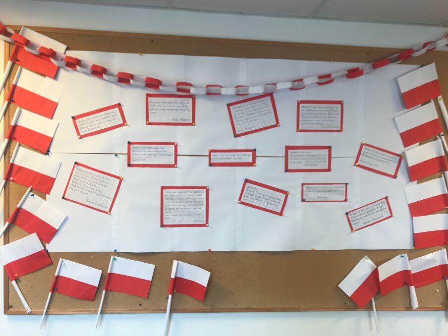 Dzieci z Bednarskiej Szkoły Podstawowej piszą o wolności