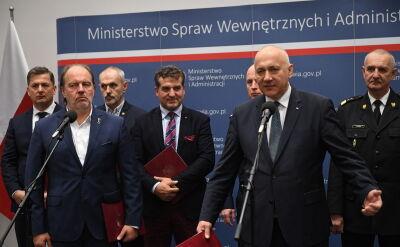 Podziękowania szefa MSWiA Joachima Brudzińskiego