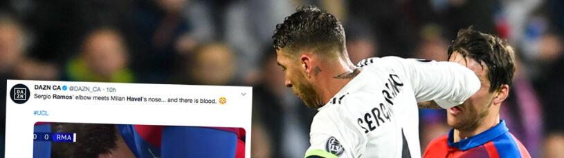 Ramos znowu rozrabia i znowu bezkarny. Rywal zalał się krwią