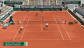 Świątek i Mattek-Sands przełamane w 3. gemie 2. seta finału French Open