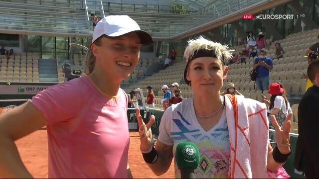 Świątek i Mattek-Sands po awansie do finału gry podwójnej we French Open
