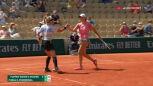 Świątek i Mattek-Sands przełamały rywalki w 7. gemie 2. seta półfinału French Open