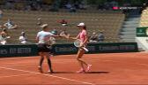 Idealny gem w wykonaniu Świątek i Mattek-Sands na początku półfinału French Open